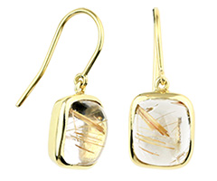 Rutilated Quartz Earring Set