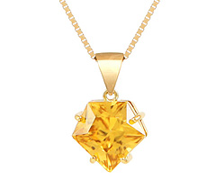 Yellow Zircon pendant