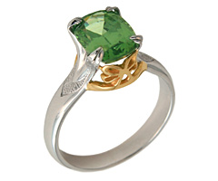 Green Zircon ring